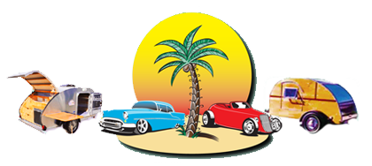 2016 Groovin in the Grove Classic Car and Vintage Travel Trailer Show Logo